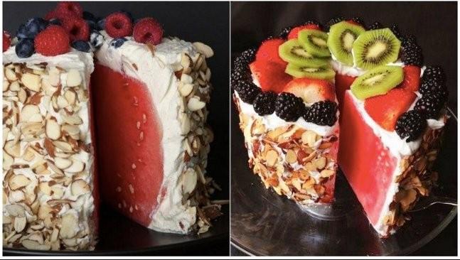Melounový koláč nepečený Recept
