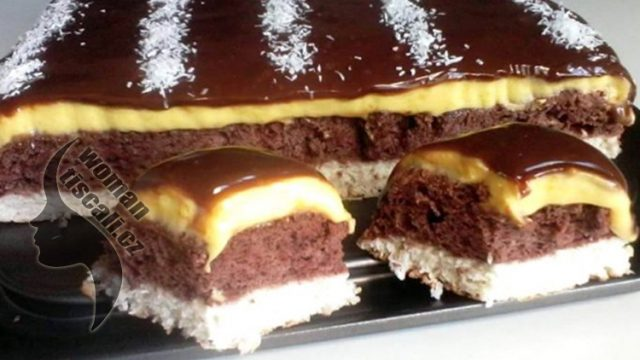 """""""Benátská noc"""" Luxusní čokoládovo-vanilkový dezert s luxusní polevou – hotový za 35 minut !"""