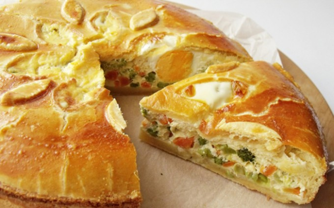 Slaný koláč se zeleninou