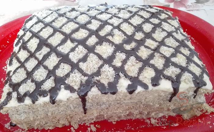 Marlenka se salkovým krémem bez válení těsta