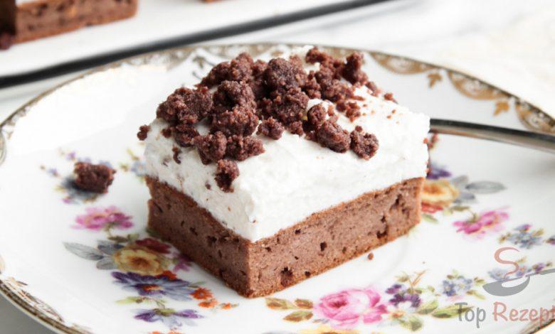 Zdravější verze kakaového dezertu s chutným vanilkovým krémem