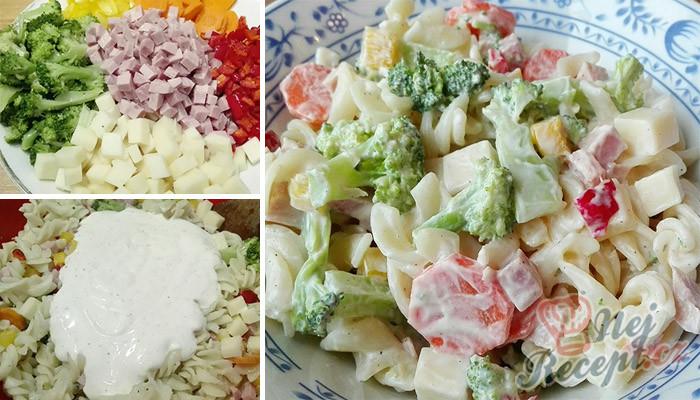 Lehký těstovinový salát s jogurtovým dresinkem