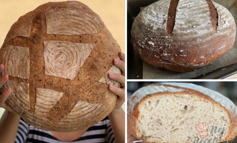 Kváskový špaldový chléb