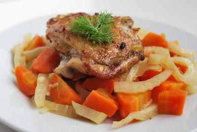 Kuře s fenyklem a mrkví