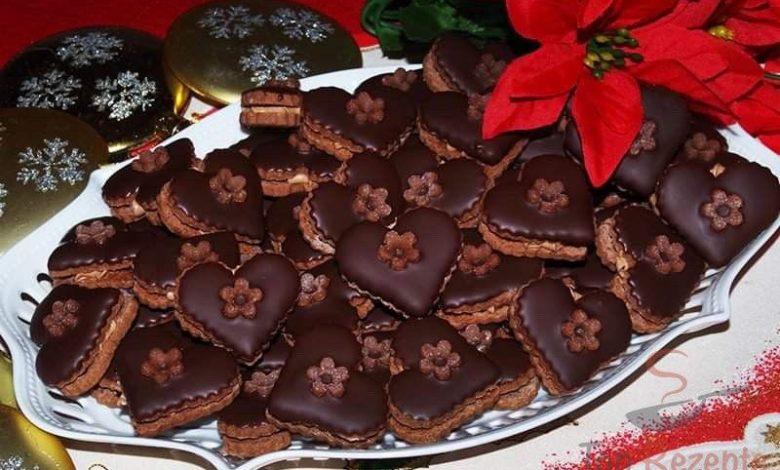 Kakaová srdíčka s čokoládou
