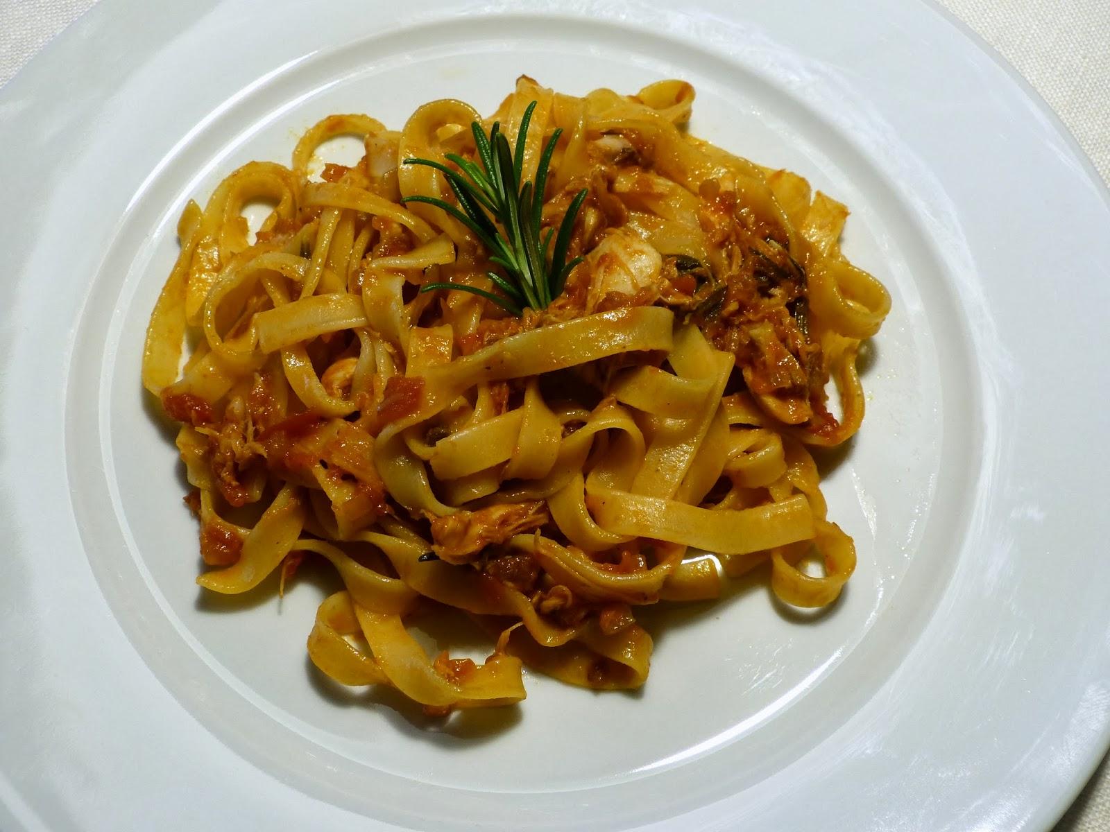 Recept na italské těstoviny: Tagliatelle s králičím ragú