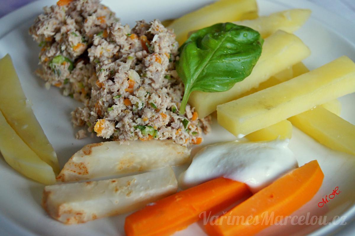 Vepřová kýta se zeleninou, která splňuje přísné parametry diety č. 4