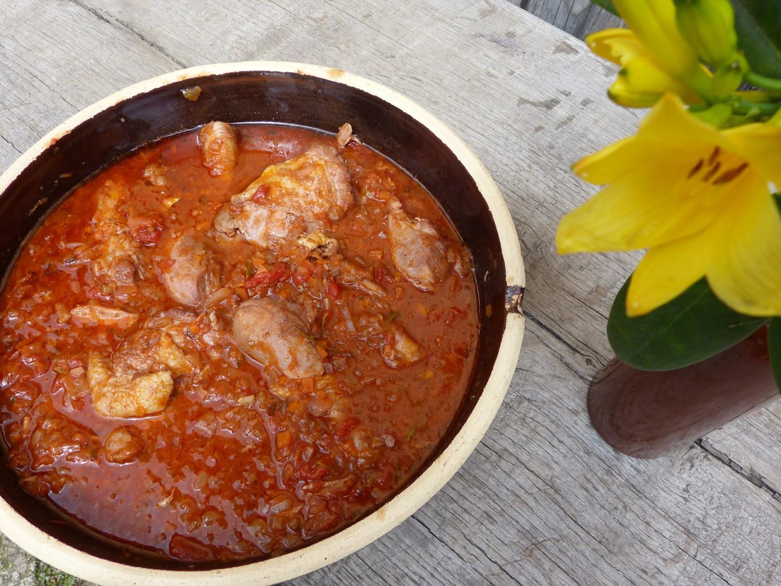 Italské kuře po myslivecku: Pollo alla cacciatora