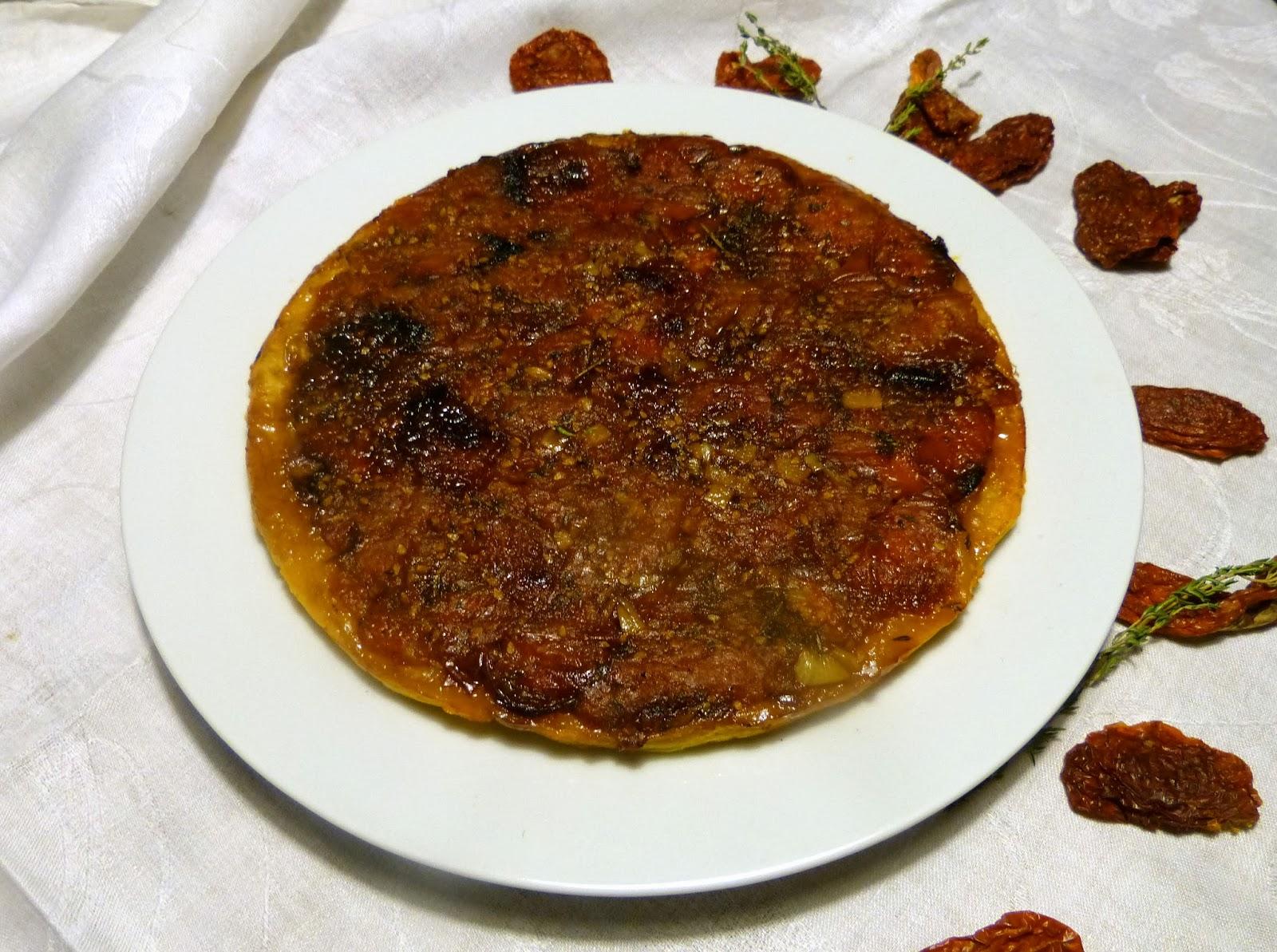 Tarte tatin s rajčaty: Francouzský slaný koláč