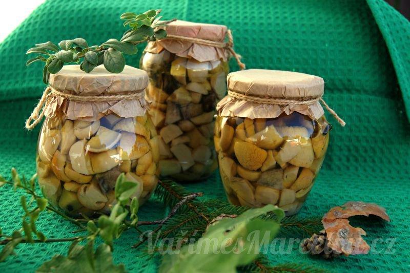 Recept na nakládané houby na kyselo
