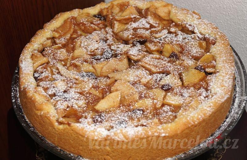 Jablkový koláč z křehkého těsta