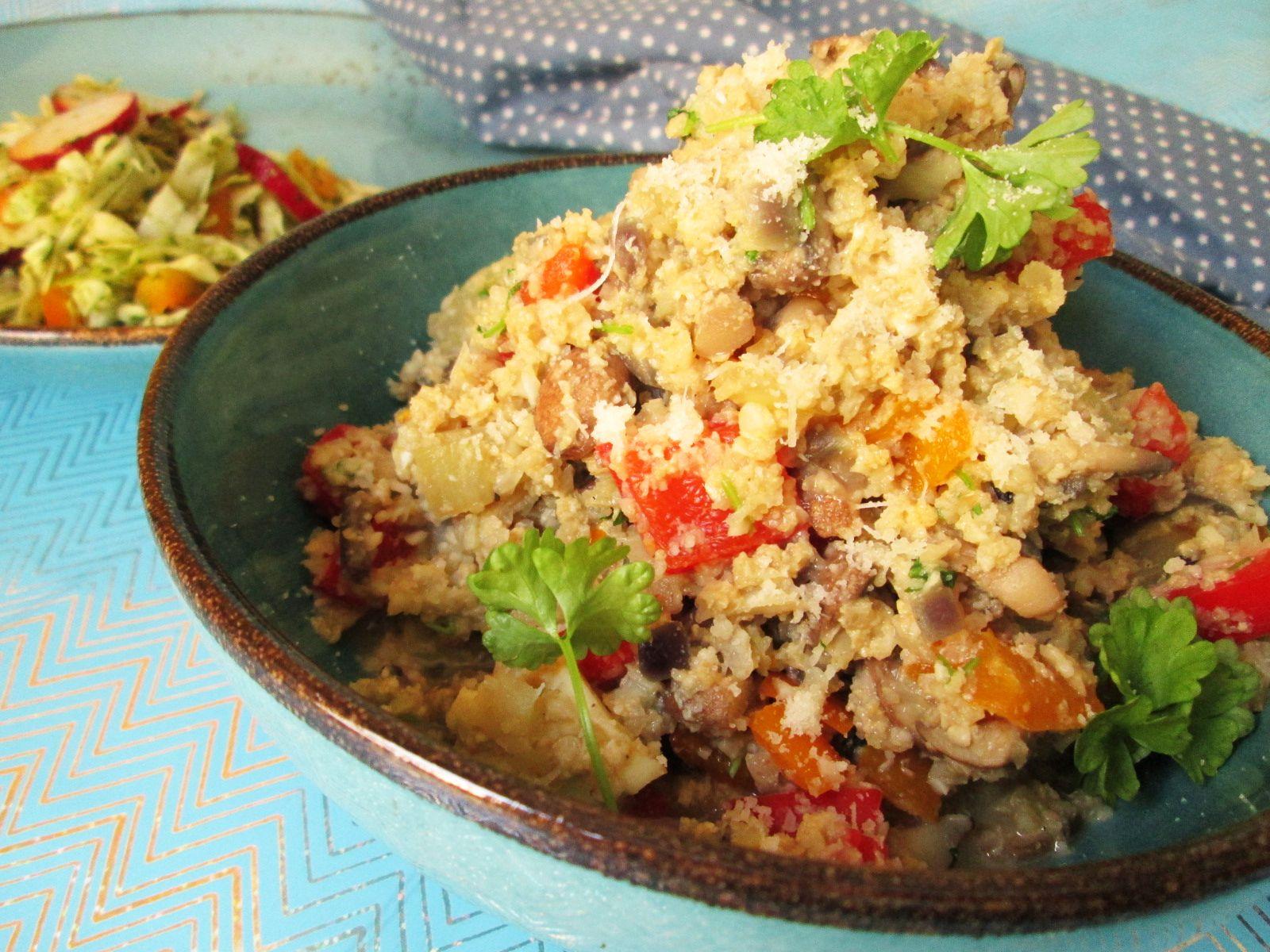 Dusená zelenina s karfiolovou ryžou – diétne