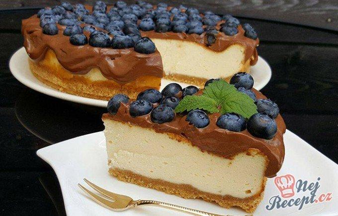Cheesecake s nejlepší čokoládovou polevou
