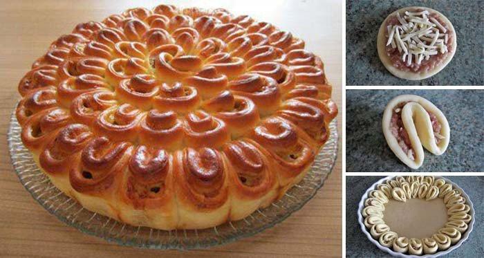 Masový dort chryzantéma