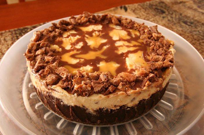 Cheesecake z MARS tyčinek