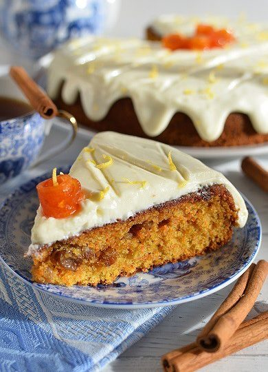 Zdravější dezert – Mrkvový dort s citronovou polevou