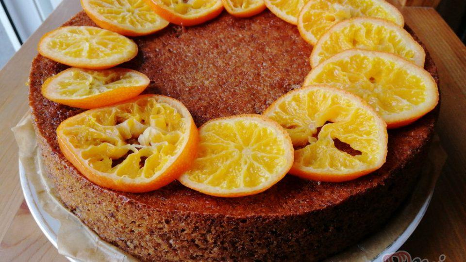 Šťavnatý dort s mandarinkami bez mouky