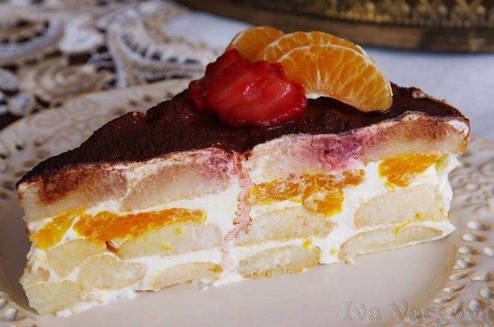 Ovocný smetanový dort