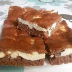 Kakaový kynutý koláč s tvarohem – falešná prošívaná deka