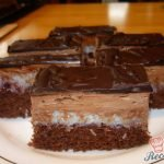 Fantastické kokosové řezy s čokoládovým krémem