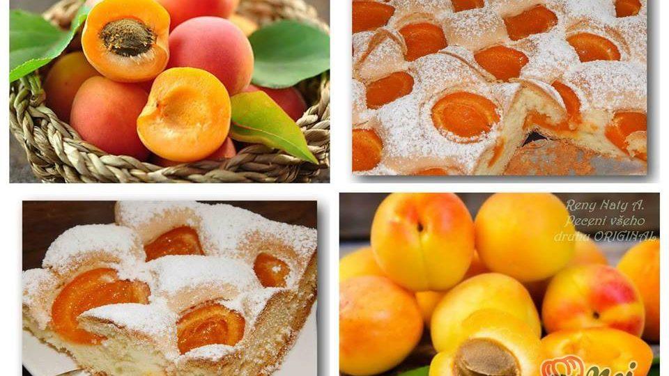Nadýchaný – mechový meruňkový koláček