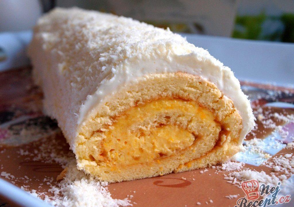 Piškotová roláda s mandarinkovým krémem